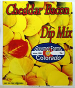 cheddar bacon dip mix from Gourmet Farms of Colorado